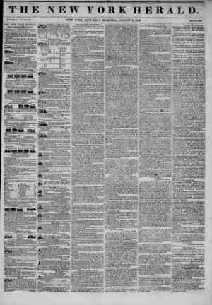 THE NEW YORK HERALD. Vol. XI., No. 100? Wholo Ho. W7 J. NEW YORK, SATURDAY MORNING, AUGUST 2, 1845. Prlco Two Ctritl* THE NEW