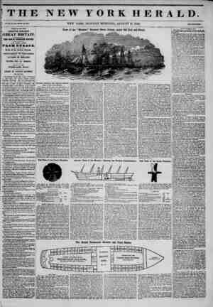 THE NEW YORK HERALD. Vol. XI ?, Ho. 190-Whol? Ffo. #081 NEW YORK, MONDAY MORNING, AUGUST 11. 1845. JPrleo Two CoaCa. I...
