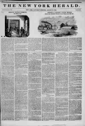 """THE NEW YORK HERALD. Vol. XI., Ho. iiUS.Wholt Wo. 4100. NEW YORK, SATURDAY MORNING, AUGUST 30, 1845. Mm """"Two Outf. HERALD..."""