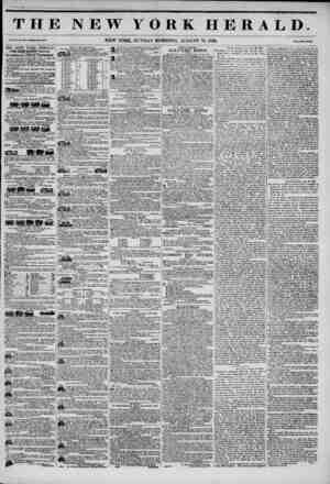 THE NEW YORK HERALD. new YORK, SUNDAY MORNING, AUGUST 31, 1845. THE NEW YORK HERALD. J4MBS GORDON BBNNKTT, Proprietor....
