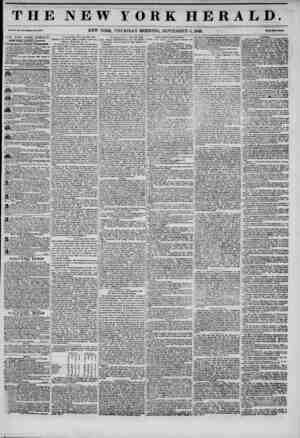 THE NEW FORK HERALD. Vol. 3.!., >o. W?toJl? Ho. NEW YORK, THURSDAY MORNING, SEPTEMBER 4, 1845. Prhi? Two Dud. THE NEW YORK
