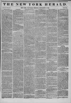 THE NEW YORK HERALD. ??I. XI., Mo. !<40.WkoU Mo. *118. NEW YORK, WEDNESDAY MORNING, SEPTEMBER 17, 1845. Imi>ortaiit from...