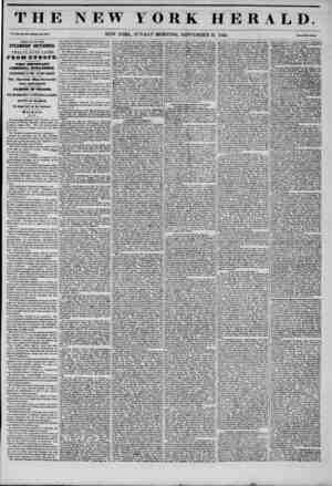 THE NEW YORK HERALD. Vol. XI., No. JI5R-. Wholo No. ftlNN. NEW YORK, SUNDAY MORNING, SEPTEMBER 21, 1845. Frit* Two Con fa.