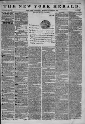 THE NEW YORK HERALD. Vol. XI., Bio. SIM?Whole No. 4140. NEW YORK, WEDNESDAY MORNING, 0CT0BERJ15, 1845. Price Two Cento. THE