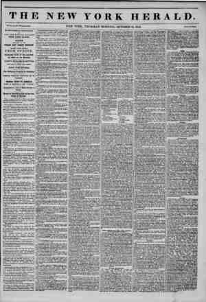 THE NEW YORK HERALD Vol. XI., No. MS-Whole No. ?HO, NEW YORK, THURSDAY MORNING, OCTOBER 16, 1845. BY OAT'S KXPRKSS, FROM...