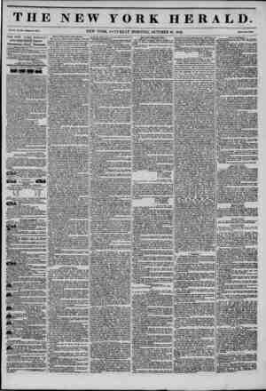 THE NEW YORK HERALD. v.. x,NEW YORK, SATURDAY MORNING, OCTOBER 18. 1845. THE NEW YORE HERALD. JAMES GORDON BENNETT,...