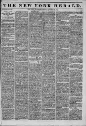 THE NEW YORK HERALD. Vol. XI., No. 970?Whole No. 4159. NEW YORK, TUESDAY MORNING, OCTOBER 21, 1845. Price Two Con t*. )...