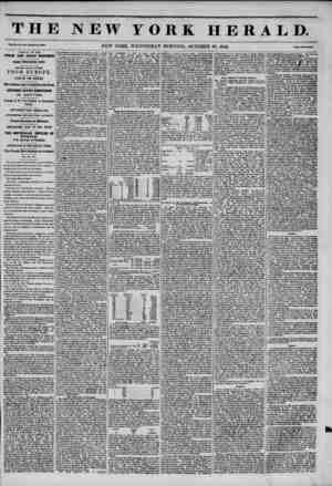 THE NEW YORK HERALD. Vol. XI., No. 978?Whole No. 415U. NEW YORK, WEDNESDAY MORNING, OCTOBER 29, 1845. Price Two Cento....