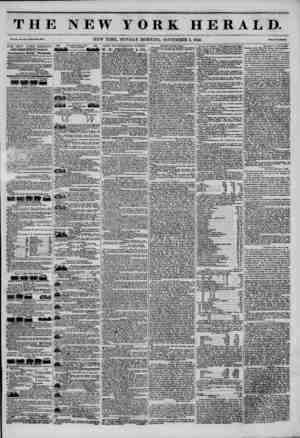 THE NEW YORK HERALD. Vol. XI., No. Whole No. IMS. NEW YORK, MONDAY MORNING, NOVEMBER 3, 1845. Price Two Cents. THE NEW...
