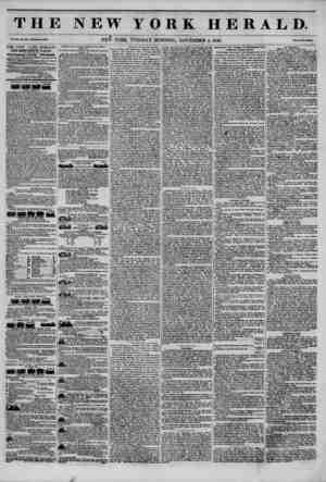 THE NEW YORK HERALD. TP v?.ii..NEW YORK, TUESDAY MORNING, NOVEMBER 4, 1845. THE NEW YORK HERALD. JAMES GORDON BENNETT....