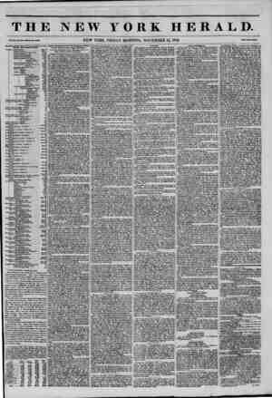 THE NEW YORK HERALD. Vol. XI., Mo. m-WhoM Mo. ?160. NEW YORK, FRIDAY MORNING, NOVEMBER 14, 1845. PrlM Two Coots. BtwtlstU-.e