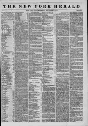 THE NEW YORK HERALD. Vol. XI., No. 907 ?Whol* No. *160. NEW YORK, MONDAY MORNING, NOVEMBER 17, 1845. Prleo Two Conts* Wrnllh