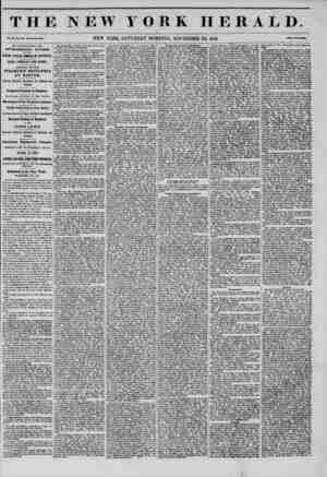 THE NEW YORK HERALD. Vol. XI., No. 34'4-Whol* No. 4174. NEW YORK, SATURDAY MORNING, NOVEMBER 22, 1845. Prlet Two C?nta. BY AN