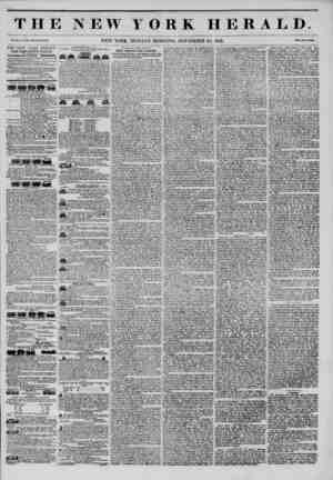 "THE NEW YORK HERALD. Vol. XI., Mo. 344 ""WhoU No. 4170. NEW YORK, MONDAY MORNING, NOVEMBER 24, 1845. Prle? Two Cants. THE NEW"