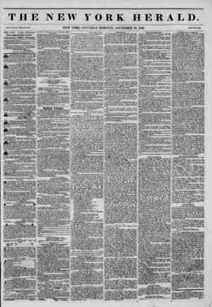 THE NEW YORK HERALD. Vol. XI., No. 340-Wholo No. 4181. NEW YORK, SATURDAY MORNING, NOVEMBER 29, 1845. PrlM Two Conu* THE NEW