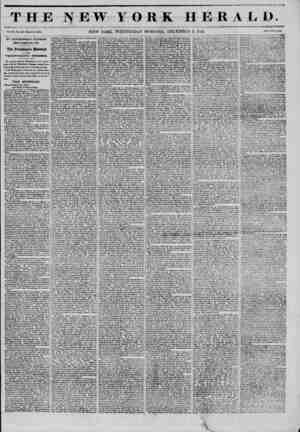 THE NEW YORK HERALD. NEW YORK, WEDNESDAY MORNING, DECEMBER 3, 1S45. by government express PROM WASHINGTON CITV. The...