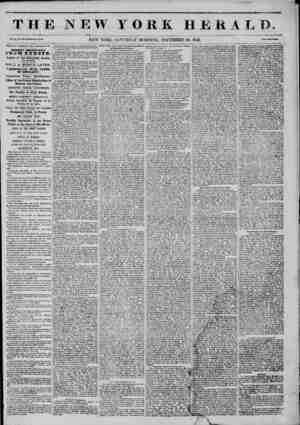 M ? ~ L ? THE NEW YORK HEHAI Vol. XI., No. 330?Whole Wo. NEW YORK, SATURDAY MORNING, DECEMBER 20, 1845. Prtr? Two Cratl....