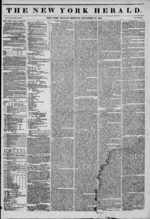 THE NEW YORK HERALD. Vol. XI., No. 354?Whole No. 430*. NEW YORK, MONDAY MORNING, DECEMBER 22, 1845. (?Tte? Two Cents. THE...