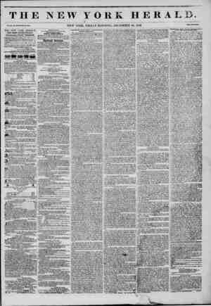 THE NEW YORK HERALB Vol. XI., No. 350?Whole No. 4U0H. NEW YORK, FRIDAY MORNING, DECEMBER 26, 1845. Prtco Two Vtnla. THE NEW