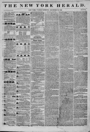 THE NEW YORK HEKAL1). CI., No. 360?Whole Vo. 4?14. NEW YORK, TUESDAY MORNING, DECEMBER 30, 1845. NEW YORK HERALD. .S GORDON