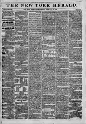 THE NEW YORK HERALD. Vol. XXI., ??. B?-WlMl?Ia.?MI. NEW YORK, WEDNESDAY MORNING, FEBRUARY 25, 1846. THE NEW YORK HERALD....