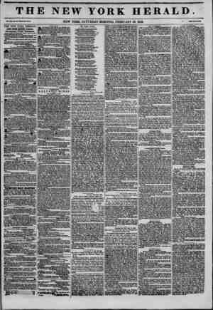 THE NEW YORK HERALD. ?at* SCO*, If. ?*?Wfeola M7?. NEW YORK, SATURDAY MORNING, FEBRUARY 28, 1846. THE NEW YORK HERALD. JAKES
