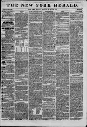 THE NEW YORK HERALD. Vol.XXImaO?Wb?U Ho. M73. NEW YORK, MONDAY MORNING, MARCH 2, 1846. THE NEW YORK HERALD. JAMES CORDON...