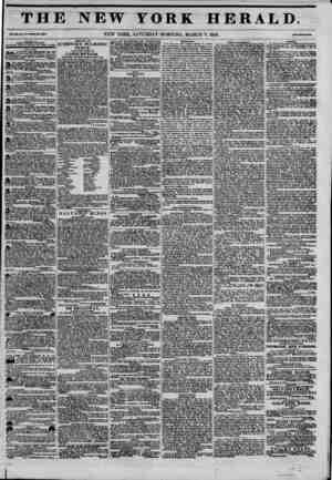 THE NEW YORK HERALD. Vml. xn., Mo. BS.W1MU Ho. ?KTS. NEW YORK, SATURDAY MORNING, MARCH 7, 1846. rrtNtwaOwM. A rriLIINID BT