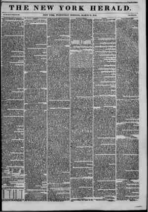 ! THE NEW YORK HERALD. XXI., TS-WlMU Urn. 4*480. NEW YORK, WEDNESDAY MORNING, MARCH IS, 1846. The Redaction of the City...