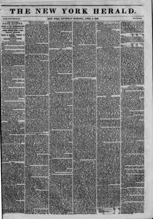 THE NEW YORK HERALD ?>?,?...???? new YORK, THURSDAY MORNING, APRIL 9, 1846. ? POVK DATS LATBR FROM EUROPE. Arrival of the N