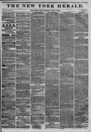 THE NEW YORK HERALD. TabXIb. Ho.M~WltolalU.43DI. NEW YORK, FRIDAY MORNING, APRIL 10, 1846. THE NEW YORK HERALD. J AIM BORHOW