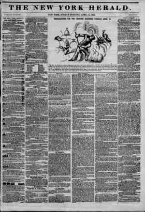 THE NEW YORK HERALD. V*l. *11., Ko. 101 -Wfcola Ho. ?11? NEW YORK, SUNDAY MORNING, APRIL 12, 1846. THE NEW YORK HERALD JAMES