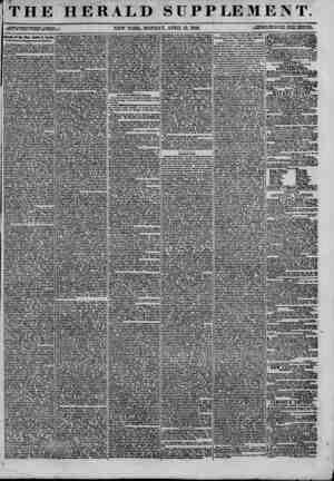 "THE HERALD SUPPLEMENT. oiA."",?'w~cSS?5,5?55ri.r5K2:^.! NEW YORK* MONDAY, APRIL 13, 1846. -m Speech of the Hon. Lewie 0...."