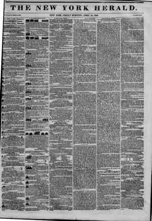 THE NEW fORK HERALD. ?I.Xn^lhlU-WlwUI?.?3M. NEW YORK, FRIDAY MORNING, APRIL 24, 1846. rr*M r*-? Cmu, IE NEW YORK HERALD....