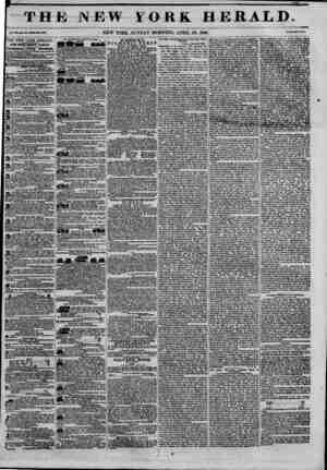 THE NEW FORK HERALD. NEW YORK, SUNDAY MORNING, APRIL 26, 1846. THE NEW YORK HERALD JAMBS GORDON BENNETT, Proprietor....