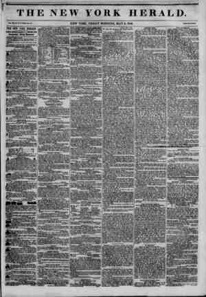 THE NEW YORK HERALD. Vol. in, Mo. U T?Whole Mo. 43 . NEW YORK, FRIDAY MORNING, MAY 8,1846. Prlco Two C?U. A THE NEW YORK...