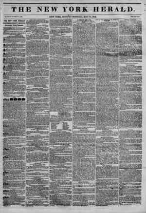 THE NEW YORK HERALD. Vol. XII, No. 13 7?Whole No. 4350. NEW YORK, MONDAY MORNING, MAY 18, 1846. Pika Two C?ata* THE NEW YORK
