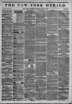THE NEW YORK HERALD. Vol. m, Mo. U?-WhoU Ho. 436B. NEW YORK, WEDNESDAY MORNING, MAY 20, 1846. THE NEW YORK HERALD. JAMES...
