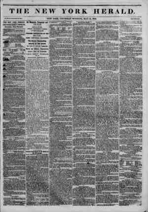 THE NEW YORK HERALD. Vol. XII, Ho. 1M-WIMI* No. 4353. NEW YORK, THURSDAY MORNING, MAY 21, 1846. Prtc* Two Canta. THE NEW YORK