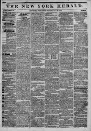 m the new york herald. xn, Mft-wMi la, ?J8V. NEW YORK, WEDNESDAY MORNING, MAY 27,1846. THE NEW YORK HERALD. JAMES MRMN...