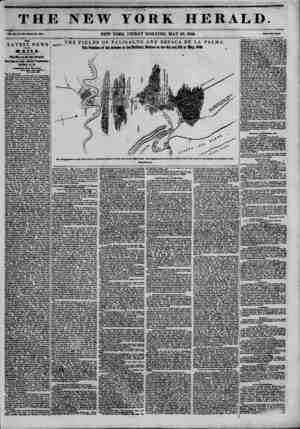THE NEW YORK HERALD. ??a. xn. i?. ui-wimu Mm. tan. NEW YORK, FRIDAY MORNING, MAY 29,1846. THIS LATEST NEWS BY THK MAIL a Til*