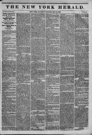 NEW YORK HERALD. NEW YORK, SATURDAY MORNING, MAY 30, 1846. . *?? SX9HL7 IUPCP.TAITT FROM EUROPE. AtlUVAL or THI GREAT...