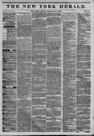 THE NEW YORK HERALD. Vol* ZD, So. UUWMt No. ?3T5. NEW YORK, TUESDAY MORNING, JUNE 2, 1846. Mm Two OmU. THE NEW YORK HERALD.
