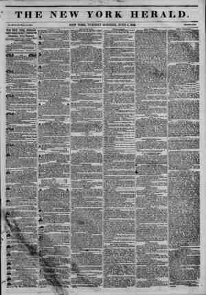 THE NEW YORK HERALD. Vol. xn, la. 1S??WlMto Ha. ?3N4. NEW YORK, TUESDAY MORNING, JUNE 9, 1846. THE NEW YORK HERALD. | JAMES