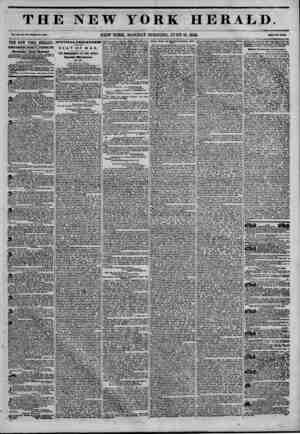 THE NEW YORK HERALD. NEW YORK, MONDAY MORNING. JUNE 15, 1846. THE NEW YORK HERALD. JAMES SORDON BENNETT, PROPRIETOR....