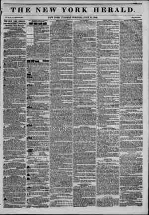 THE NEW Tol. xn, Ho. 17:uwiwto la, ?M0. NEW YORK YORK HERALD. TUESDAY MORNING. JUNE 23,1846. fiiii vwt owUi THE NEW YORK...