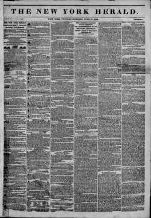 ?J e , ?> THE NEW YORK HERALD. f 41U4 NEW YORK, TUESDAY MORNING. JUNE 30, 1846. THE MEW. YORK HERAL1>. 1AMES GORDON BENNETT,