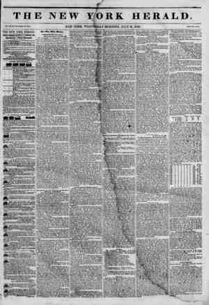 THJ Via. XXI, No. Itt-V? Whole No. 4417. THE NEW YORK HERALD.' JAMES 60R0QN BENNETT, PROPRIETOR. Circulation--Forty Thousand.