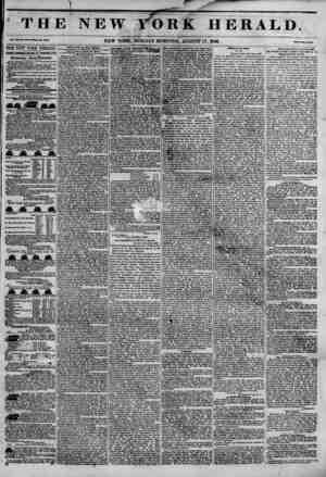 ' TBI Vol. in, I*. JMl-Wbol* Mm. MWi THE NEW~YORK HERALPT JAMES 60RB0N 8ENNETT, PROPRIETOR, Circulation---Forty Thousand....