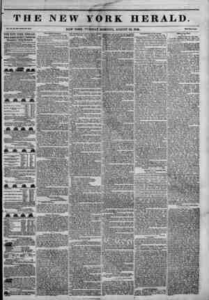 THJ Vol. XXI, No. WJ~W1U?I? Mo. MOO. THE NEW YORK HERALD. JAMES GORDON BENNETT^PROPRIETOR. Circulation---Forty Thousand....